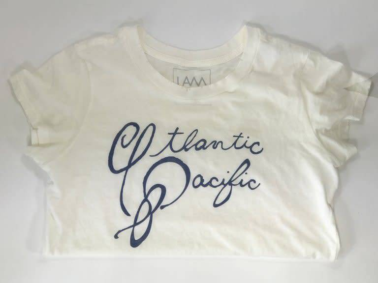 Alaina Marie ® Atlantic-Pacific T-Shirt in Sea Salt
