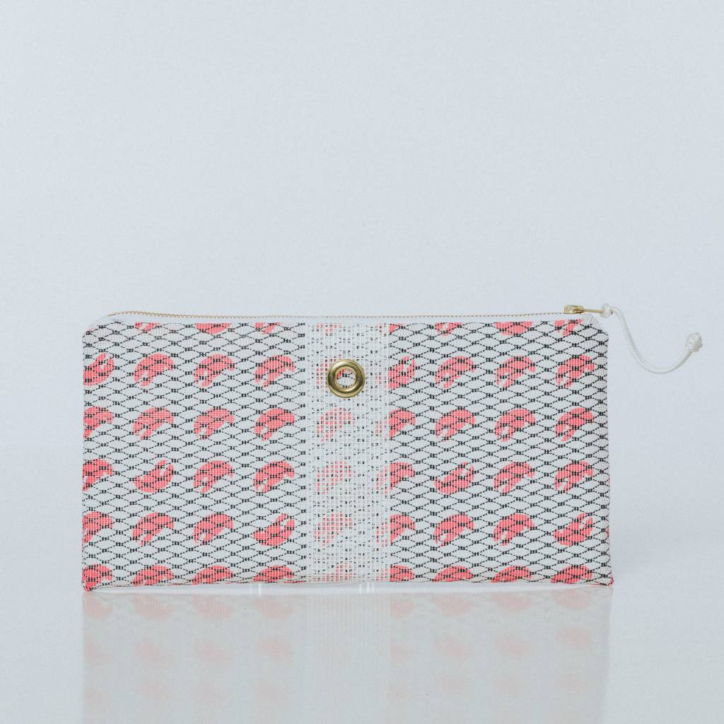 Alaina Marie ® Mini Pink Claw & White Clutch