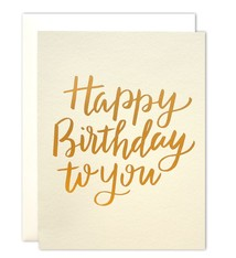 Parrott Design Studio Parrott Design Studio Happy Birthday to You Large Card