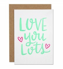 Parrott Design Studio Parrott Design Studio Love You Lots Small Card
