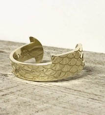 Light House Studio Design LHSD Lobster Gauge Cuff x Alaina Marie Scalloped Collab