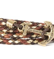 Kiel James Patrick KJP Lake Sunrise Leather Bracelet