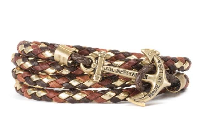 Kiel James Patrick KJP Lake Sunrise Leather Bracelet