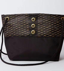Alaina Marie ® Gold on Black & Black Tote