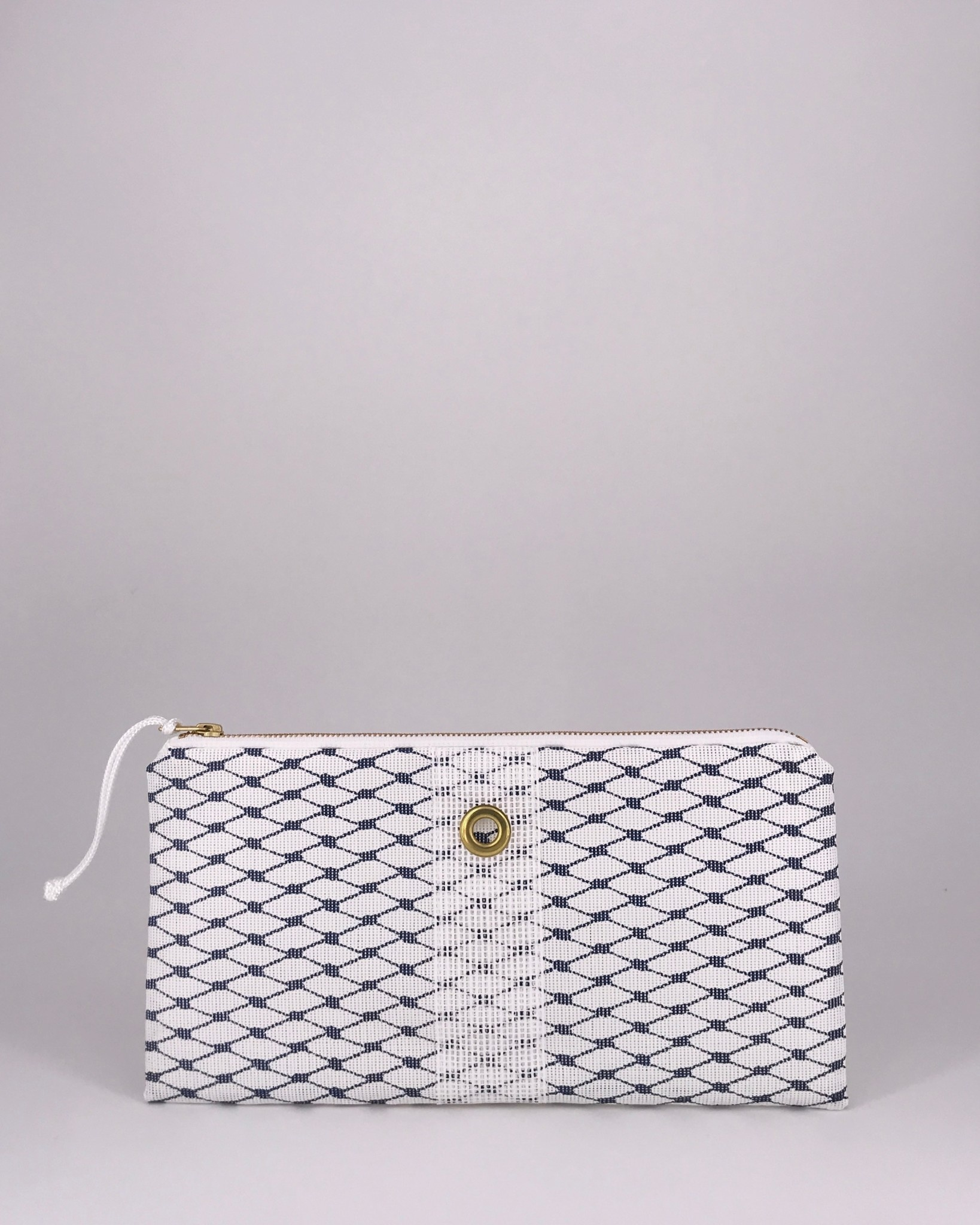 Alaina Marie ® Sailor Blue & White Clutch