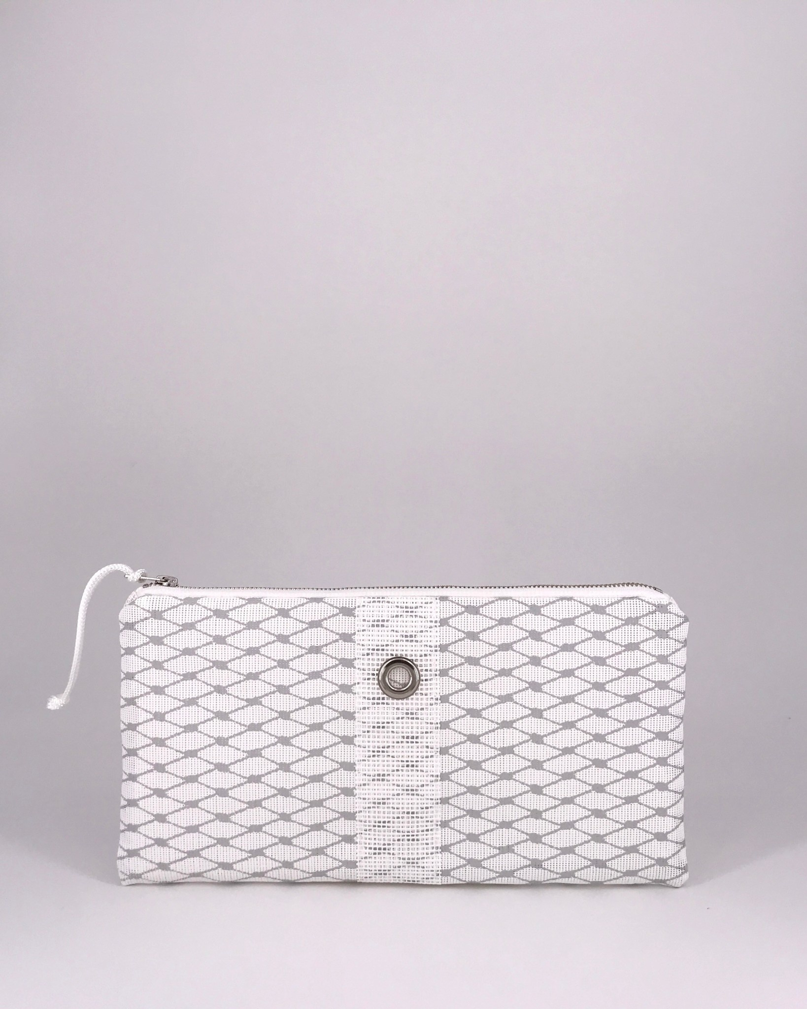Alaina Marie ® Harbor Mist & White Clutch