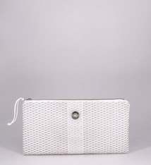 Alaina Marie ® Mini Silver on White & White Clutch