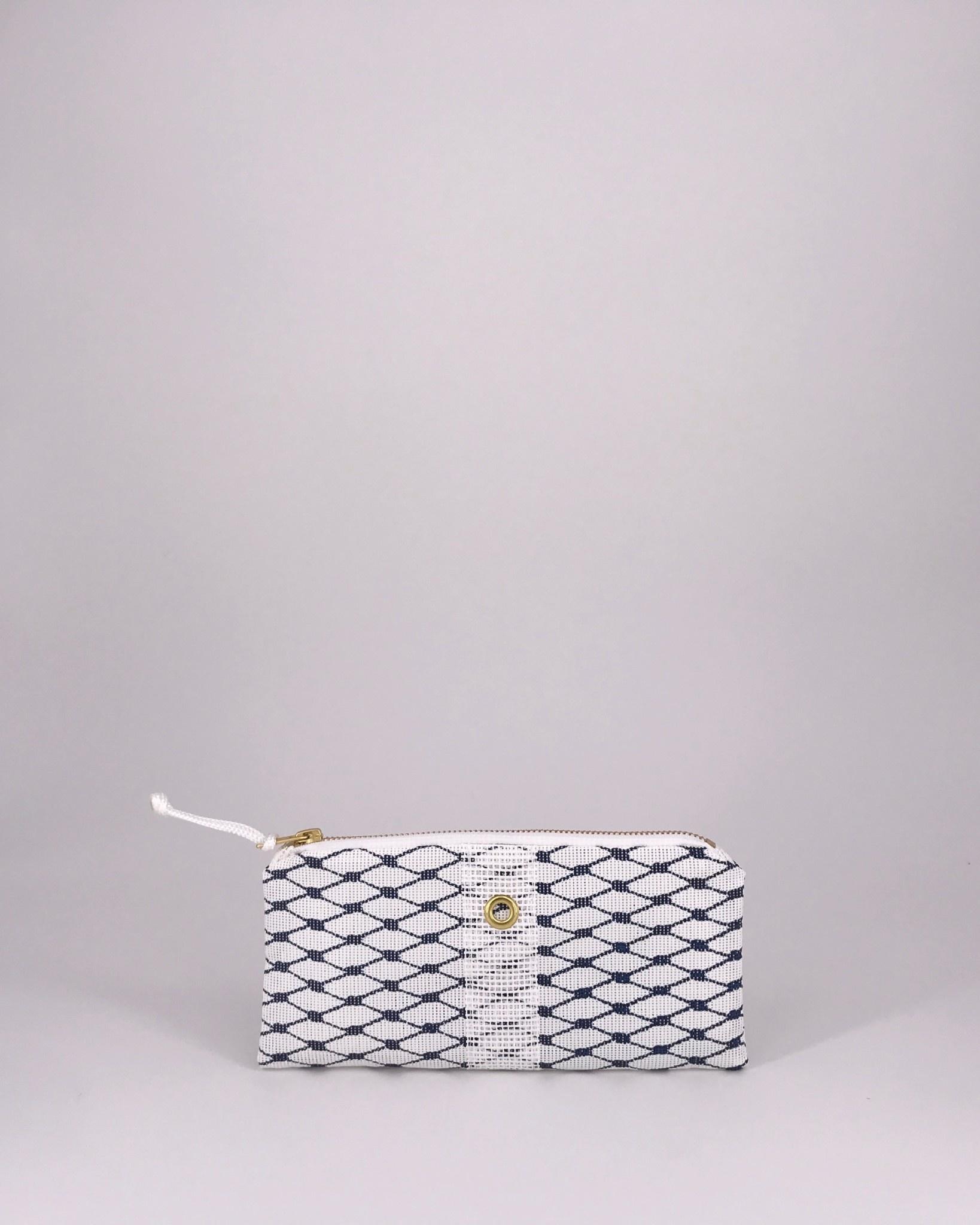 Alaina Marie ® Sailor Blue & White Mini Clutch