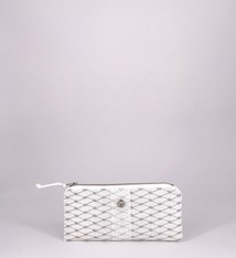 Alaina Marie ® Harbor Mist & White Mini Clutch