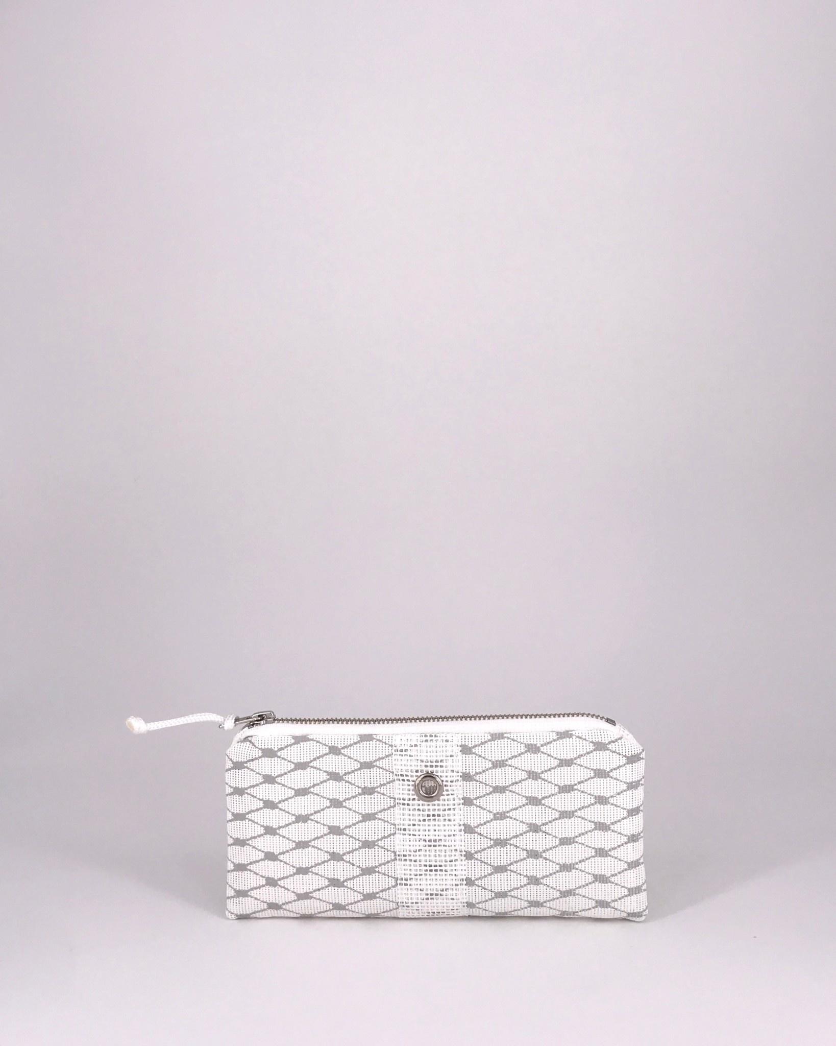 Alaina Marie ® Harbor Mist & White Mini Clutch