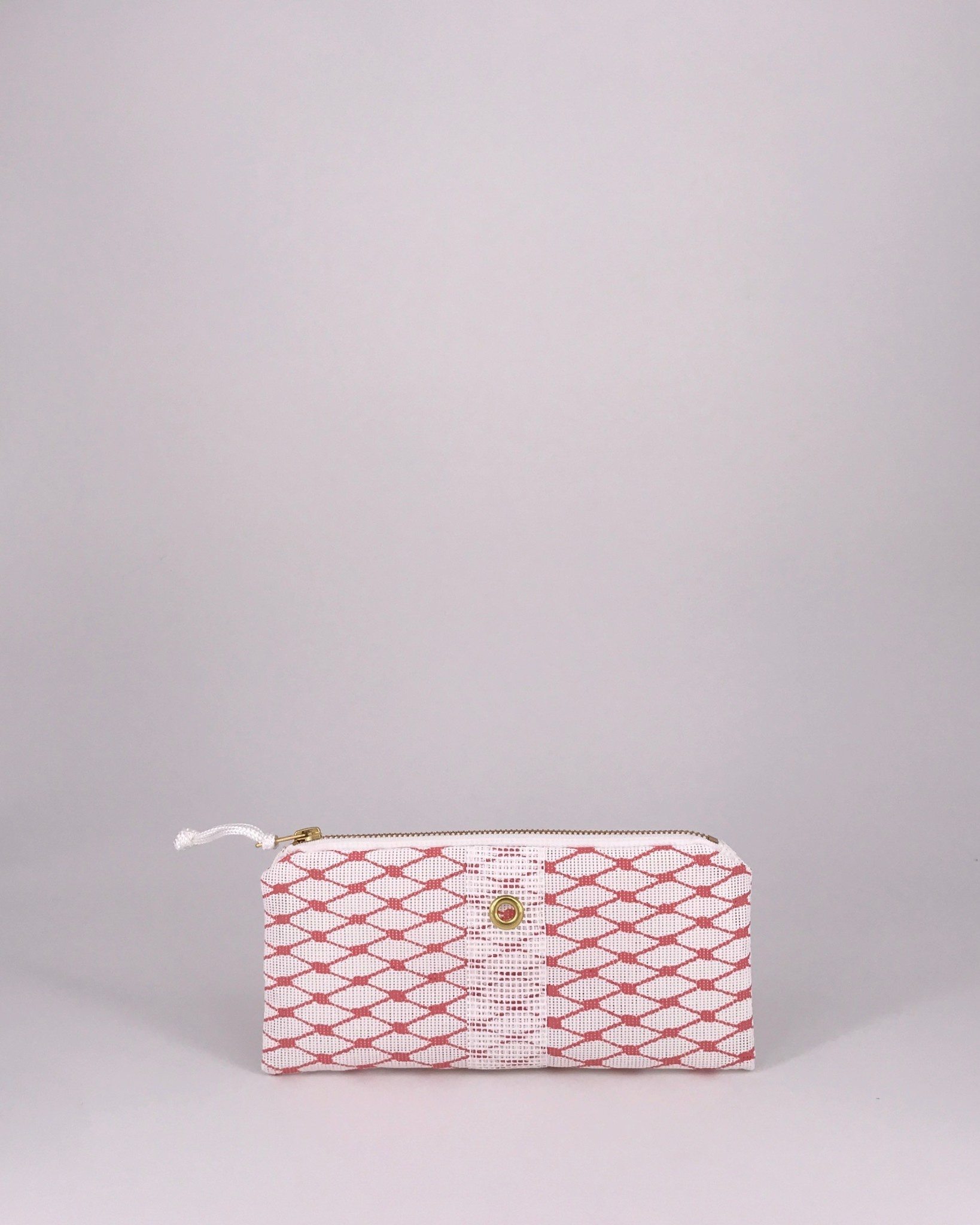 Alaina Marie ® Lobster Bisque & White Mini Clutch