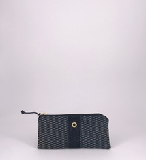 Alaina Marie ® Mini Gold on Navy & Navy Mini Clutch