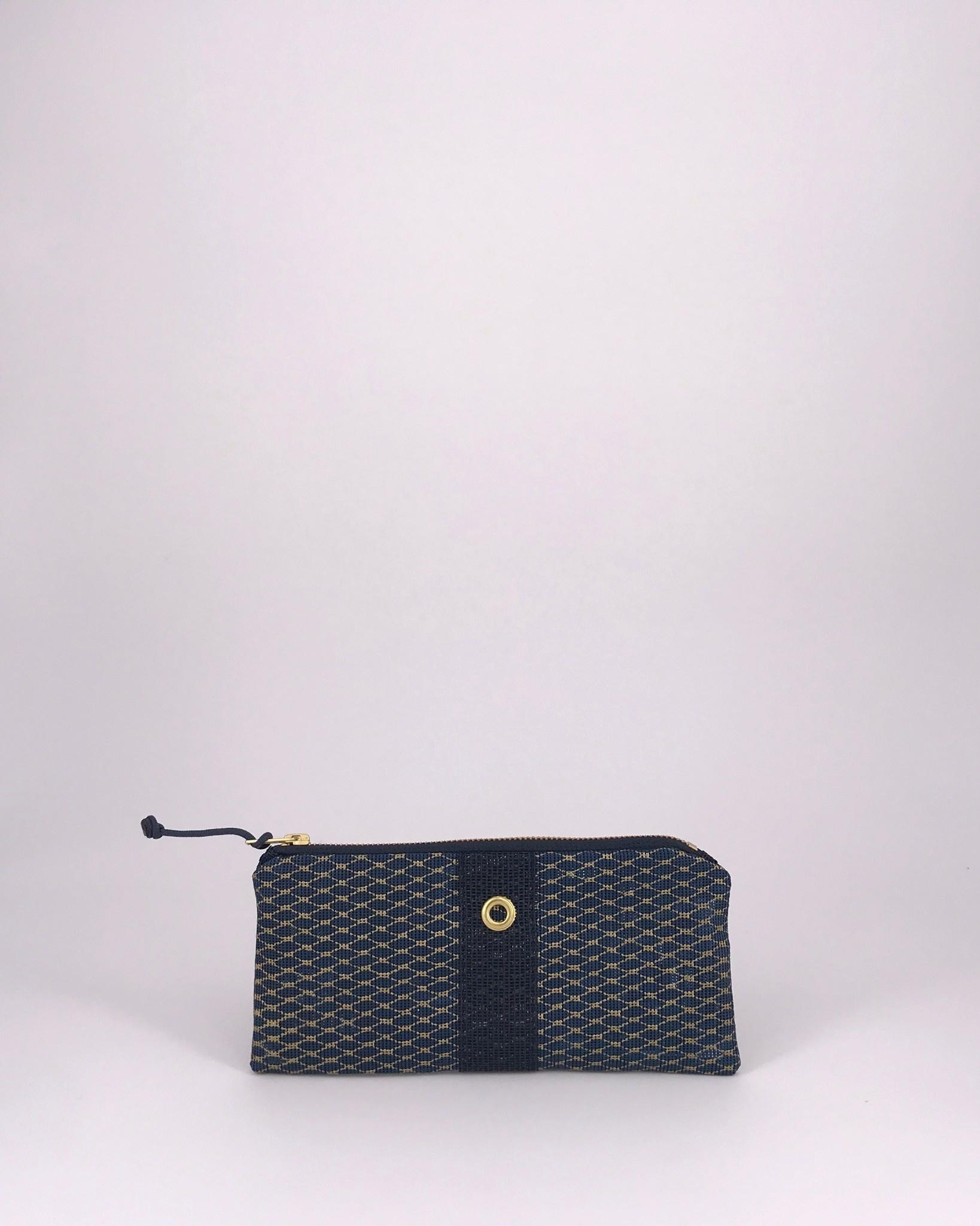 Alaina Marie ® Mini Gold Metallic on Navy & Navy Mini Clutch