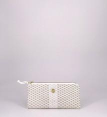 Alaina Marie ® Mini Gold Metallic on White & White Mini Clutch