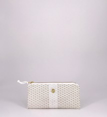 Alaina Marie ® Mini Gold on White & White Mini Clutch