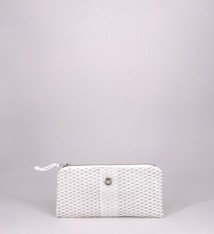 Alaina Marie ® Mini Silver on White & White Mini Clutch