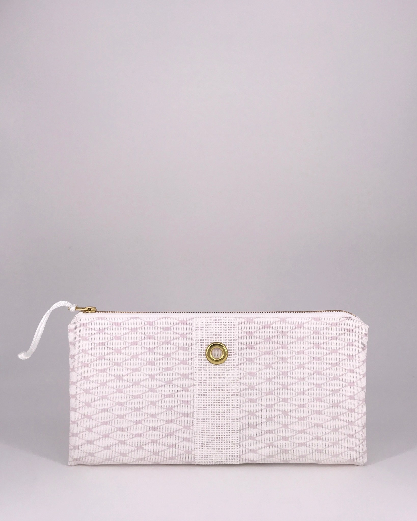 Alaina Marie ® Almost Mauve & White Clutch