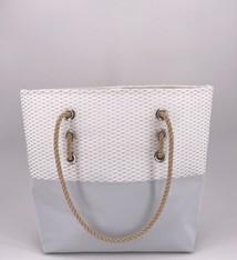 Alaina Marie ® Mini Silver Metallic & Silver Tote
