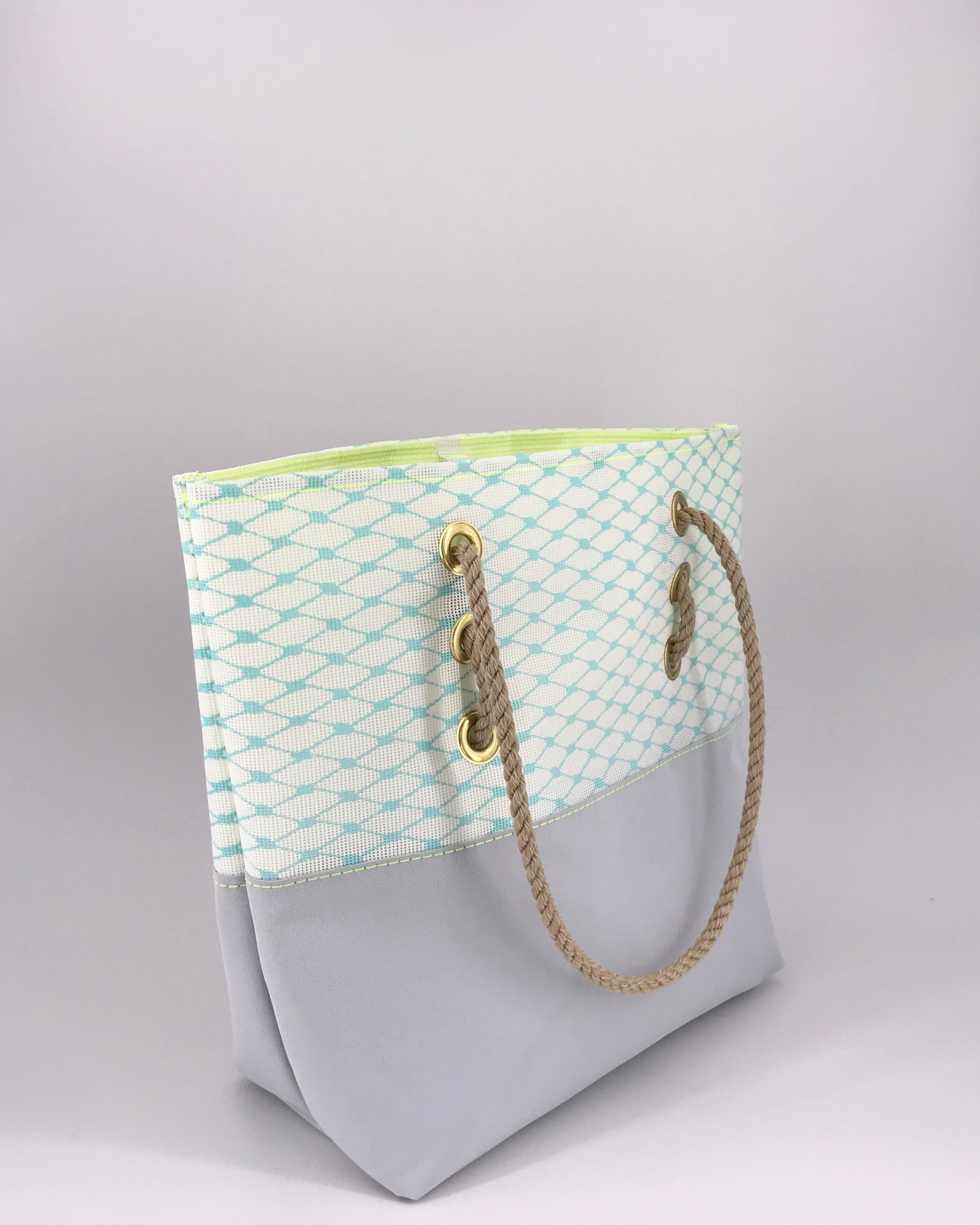 Alaina Marie ® Soothing Sea with Citron & Silver Tote