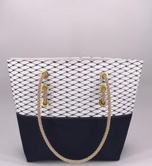 Alaina Marie ® Sailor Blue & Navy Tote