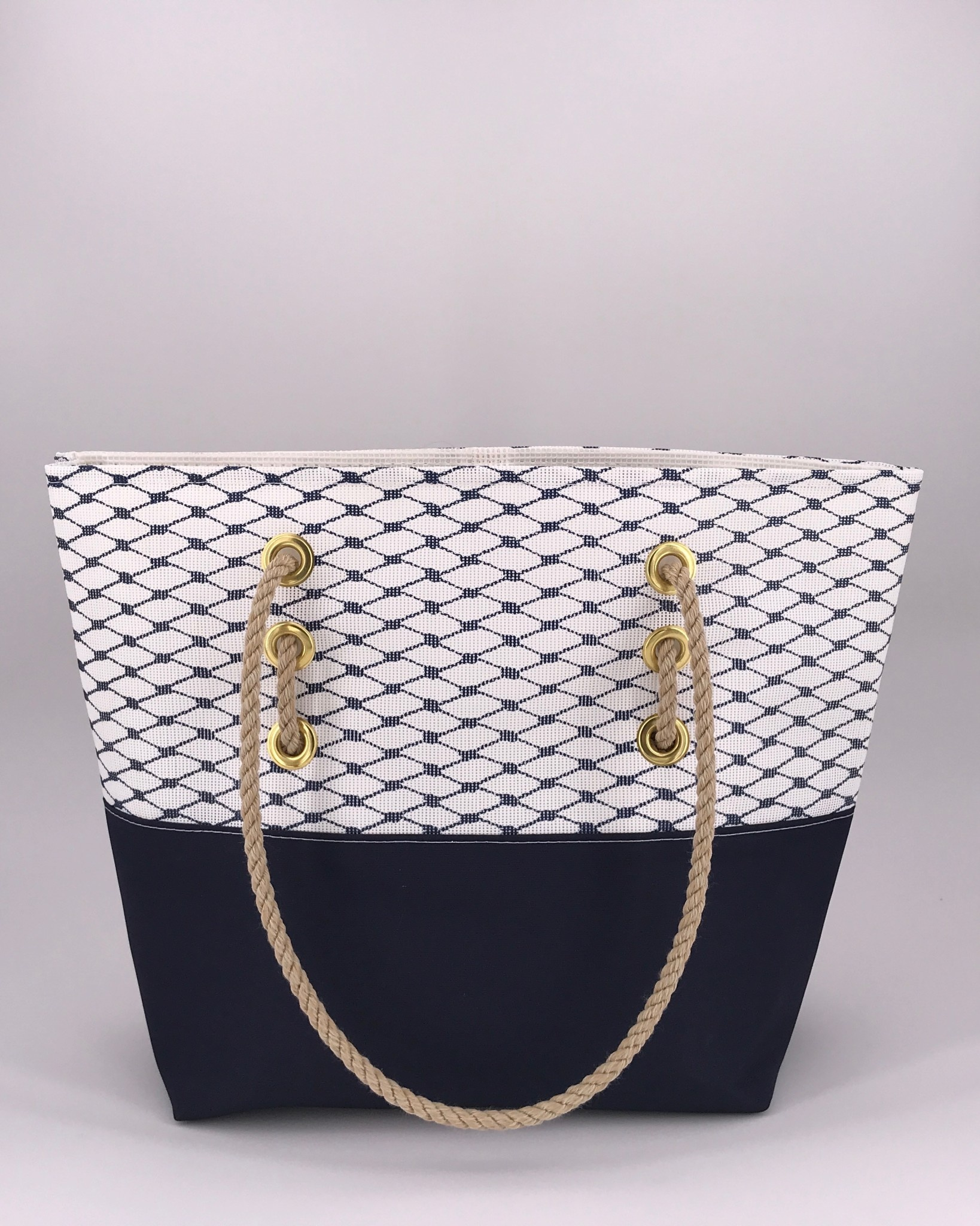 Alaina Marie ® Sailor Blue & Navy Tote