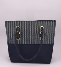 Alaina Marie ® Mini Gold Metallic on Navy & Navy Tote