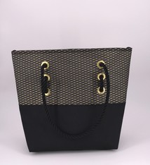 Alaina Marie ® Mini Gold Metallic on Black & Black Tote