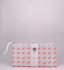 Alaina Marie ® Mini Coral Lobster Claw with Reef Waters Net Clutch