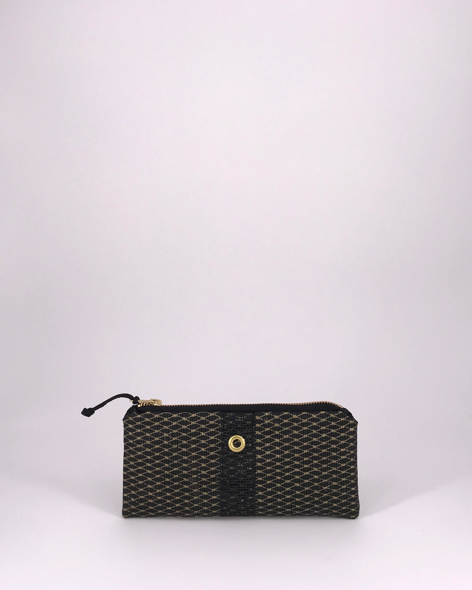 Alaina Marie ® Mini Gold Metallic on Black & Black Mini Clutch