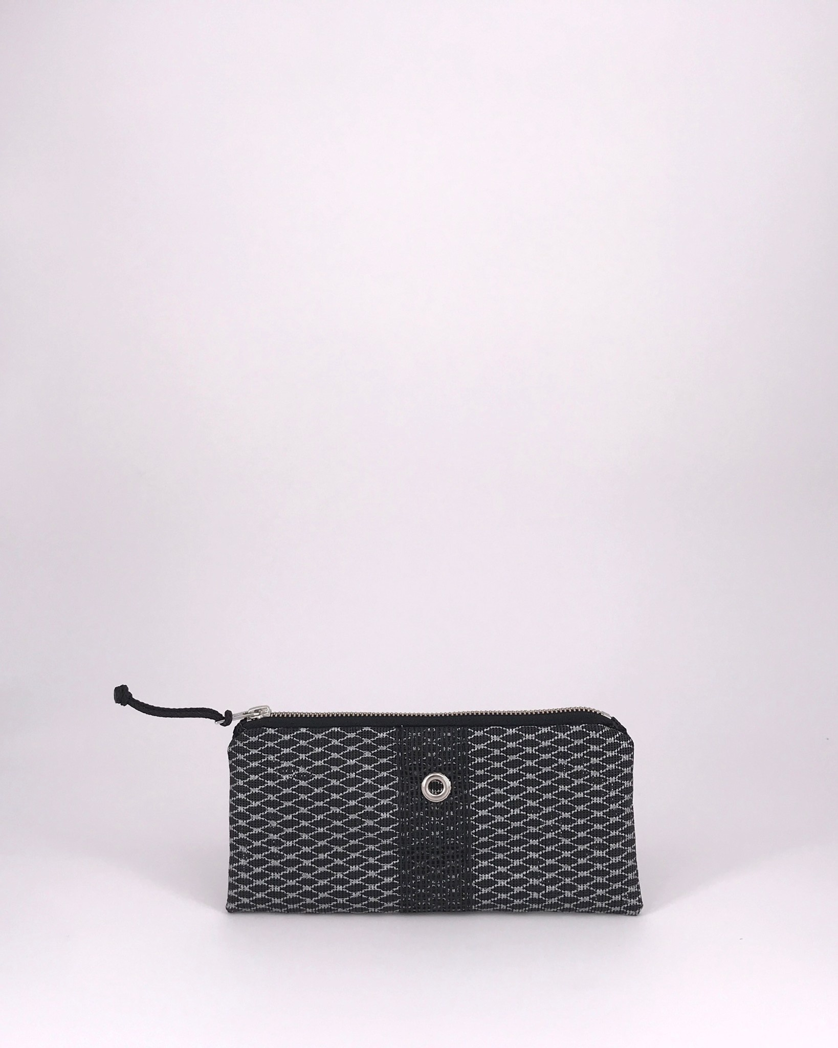Alaina Marie ® Mini Silver Metallic on Black & Black Mini Clutch