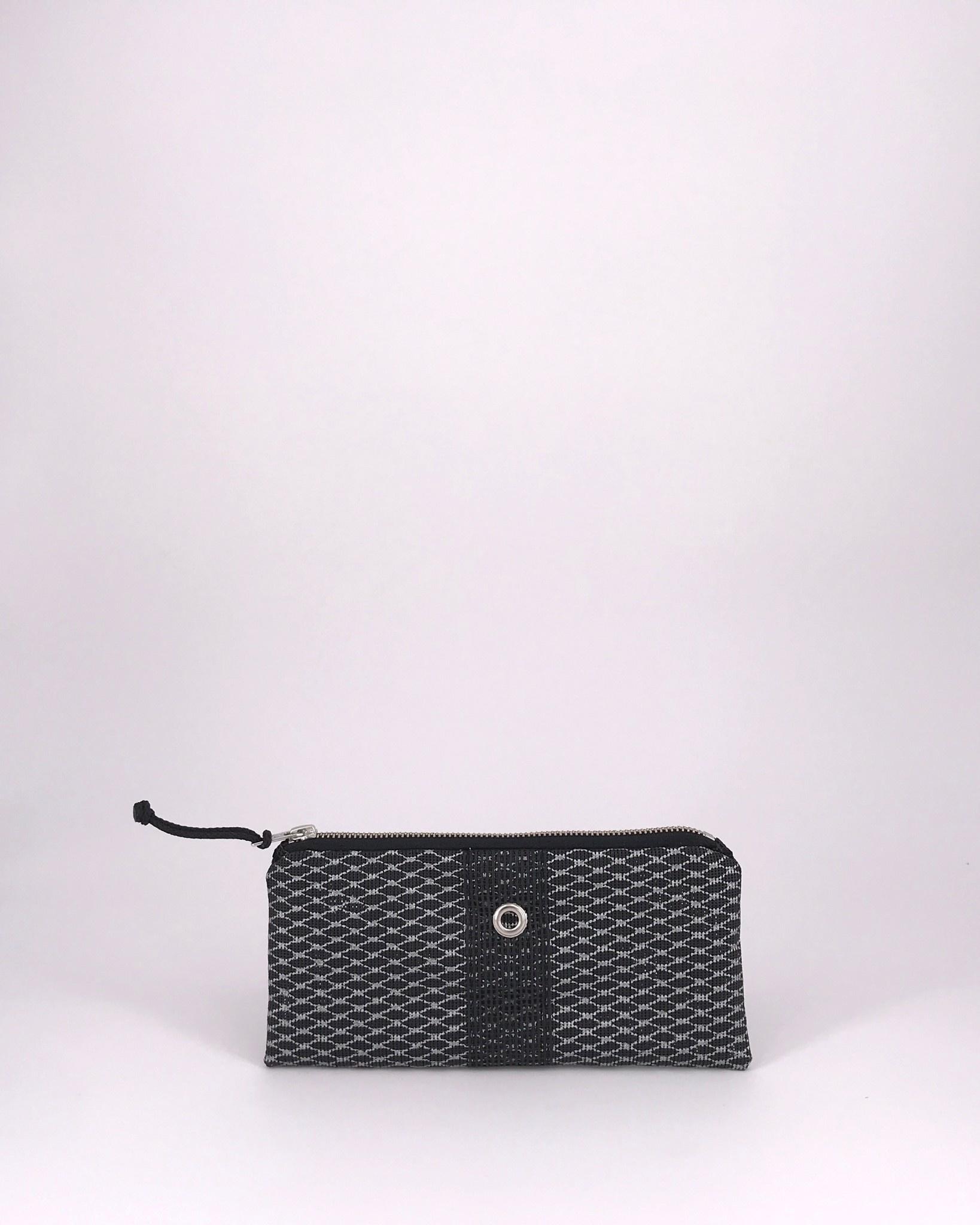 Alaina Marie ® Mini Silver on Black & Black Mini Clutch