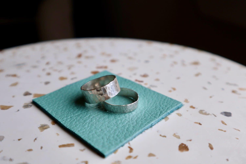 Sari Rae Sari Rae - Sterling Silver Hammered Thick Stacker Ring