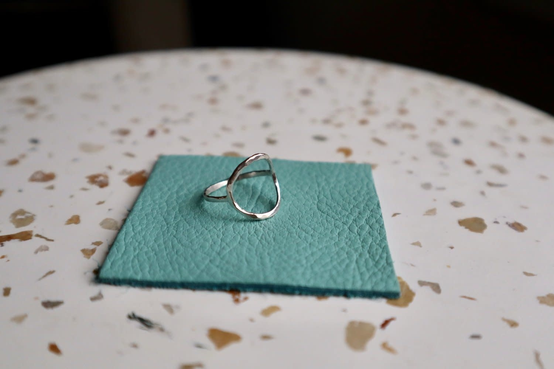 Sari Rae Sari Rae - Sterling Silver Hammered Zero Ring