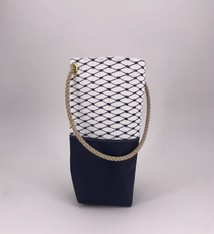 Alaina Marie ® Sailor Blue Wine Tote