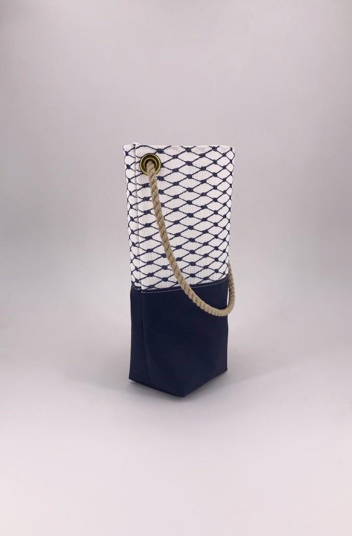 Alaina Marie ® Sailor Blue Wine Tote