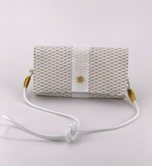 Alaina Marie ® Mini Gold Metallic & White Crossbody