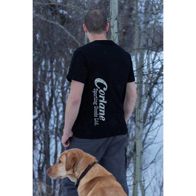 Corlane Men Sh/Sl Camo on Black T-Shirt