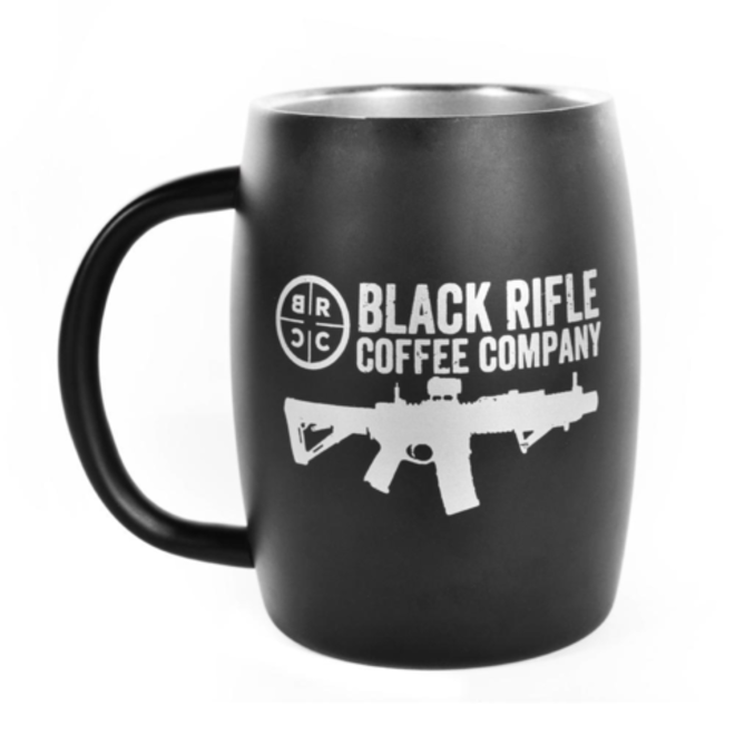Black Rifle Coffee Co . Steel Matte Black Mug