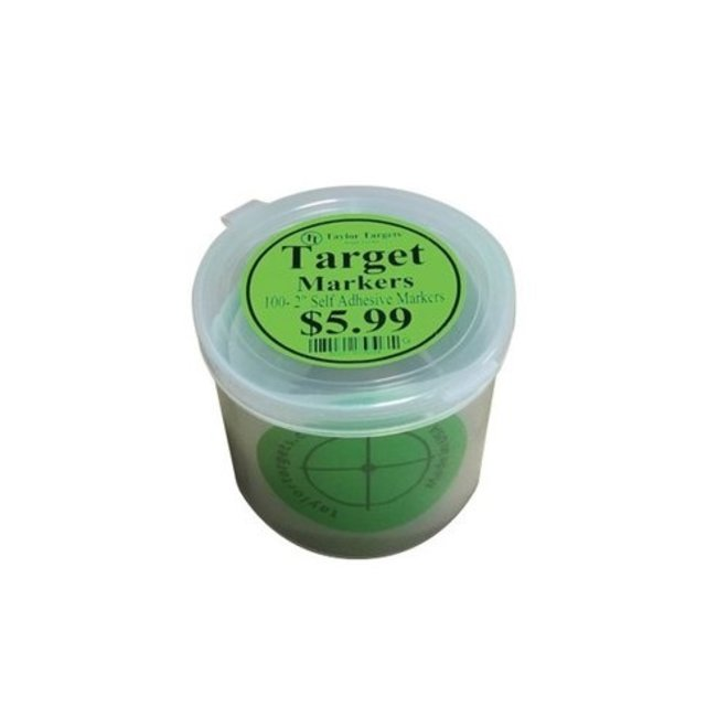 """Taylor Targets Markers 100-2"""" Adhesive Markers - Green"""