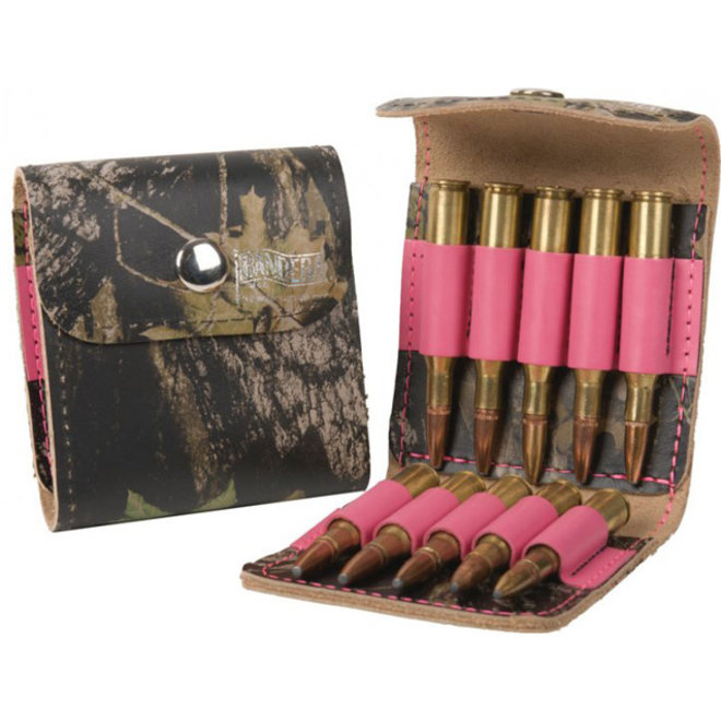 Bandera Ammo Case Pink Camo/Leather