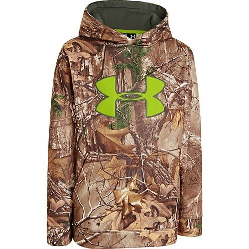 d97a0d943c9f1 Under Armour Boys Camo Big Logo Hoody Scent Control Realtree Xtra Camo