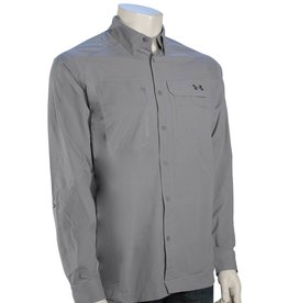 Under Armour Under Armour Fish Hunter LS Button Down Shirt Steel/Grey
