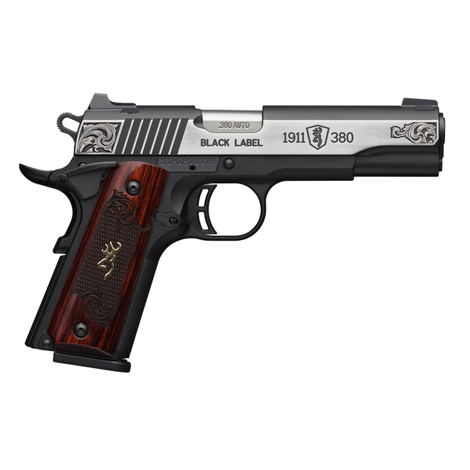 Browning 1911 Black Label Medallion Engraved .380 Auto