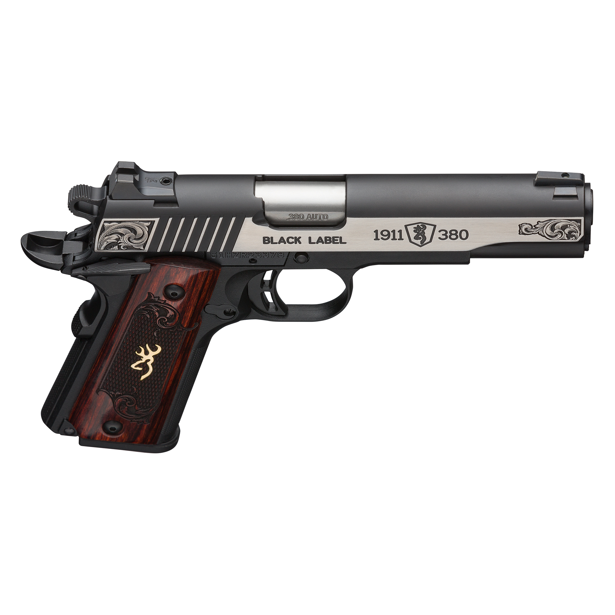 Browning 1911 Black Label Medallion Engraved  380 Auto