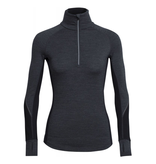 Icebreaker Merino Clothing Inc Icebreaker Womens Winter Zone Long Sleeve Half Zip Jet Heather