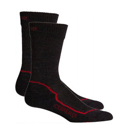 Icebreaker Merino Clothing Inc Icebreaker Mens Hike+ Light Crew Socks S