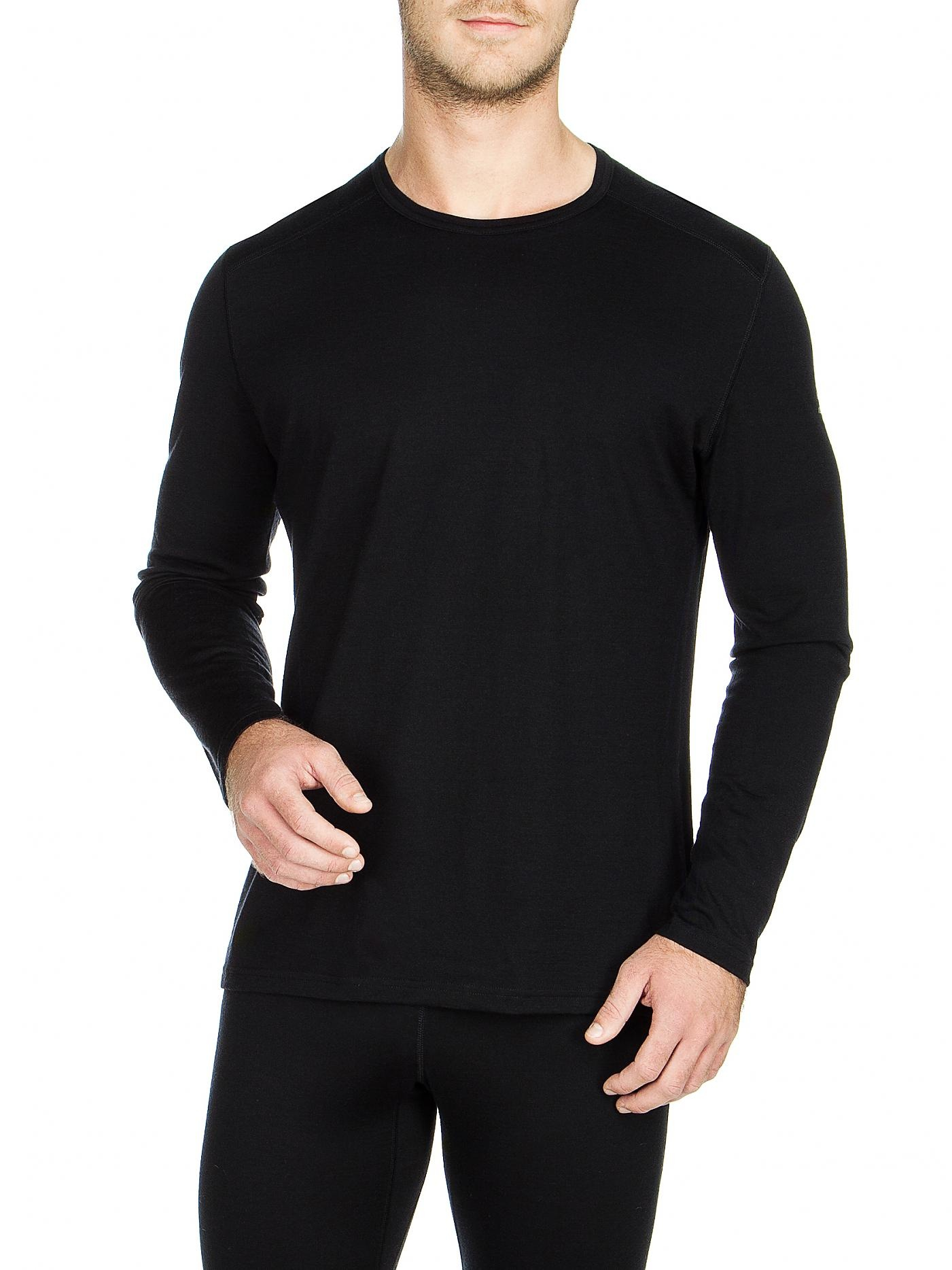 Icebreaker Merino Clothing Inc Icebreaker Oasis 200 Long Sleeve Black Mens Small