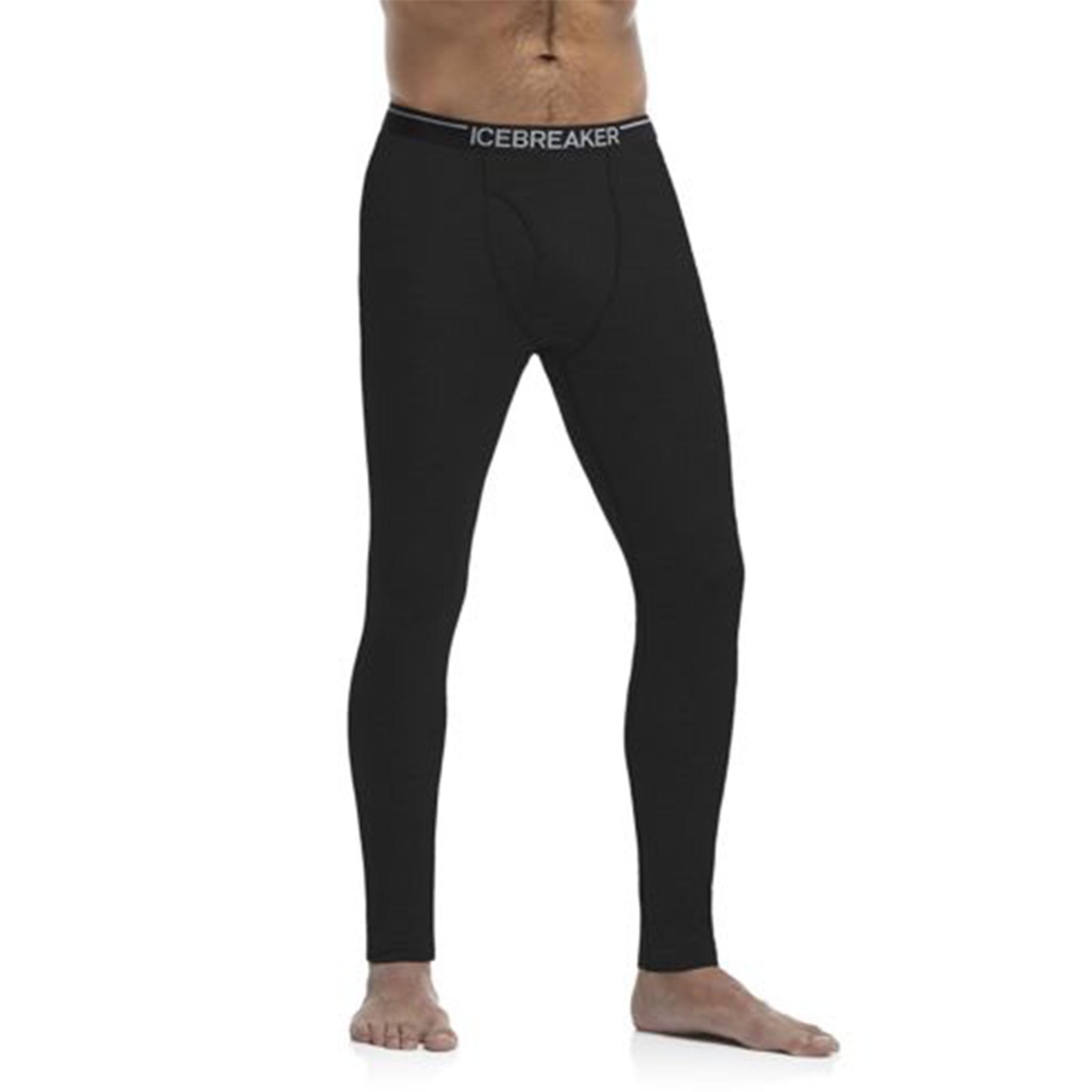 Icebreaker Merino Clothing Inc Icebreaker Mens Oasis Leggings w/ Fly Black Small