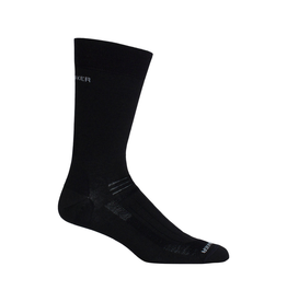 Icebreaker Merino Clothing Inc Icebreaker Men's Hike Liner Crew Black Socks