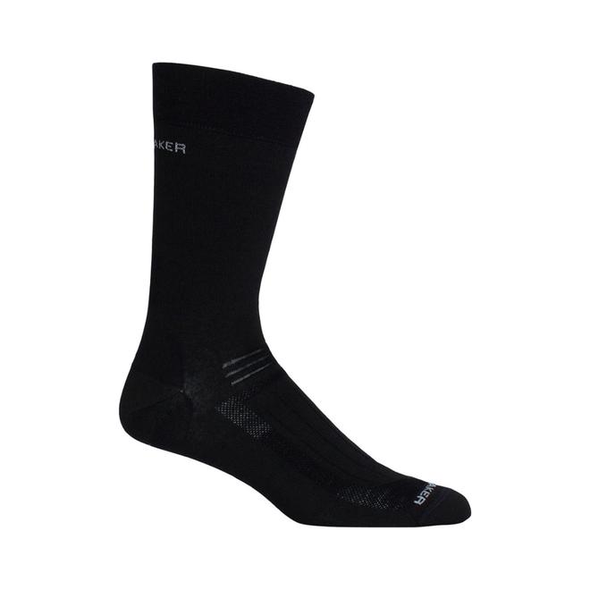 Icebreaker Men's Hike Liner Crew Black Socks